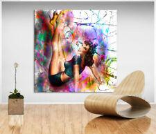 Frau Pin Up Girl Erotik Bild Leinwand Abstrakte Kunst Bilder Wandbilder D1820