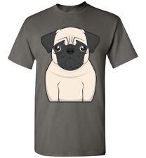 Pug Dog Cartoon T-Shirt Tee - Men Women Ladies Youth Kids Tank Long Sleeve