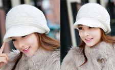 Ladies Winter Warm Hat Women Knitted Beret Crochet Slough Beanie Cap Baggy Hat