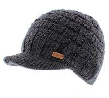 Kusan 100% Wool Knitted Peaked Beanie Cap (PK1533)