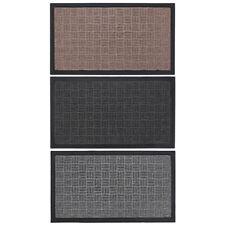 JVL Firth Woven Carpet Rubber Backed Entrance Door Mat, 40 x 70 cm