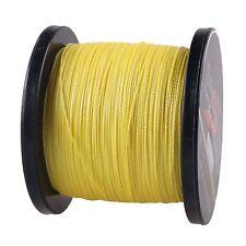 Hot sale 100% PE Dyneema Dorisea Braid Fishing Line yellow 100M 300M 500M 1000M