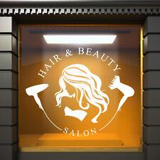 Peluquería Salón Belleza Blanco Pegatina de vinilo para ventana grande Escalable