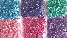 50 - 300 Anodized Metallic Coloured 5mm Open Jump Rings Split Jewellery findings