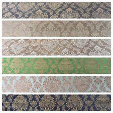 "Ornate Ornamental Indian Pure Silk Banarsi waistcoat fabric 44"" M790 Mtex"