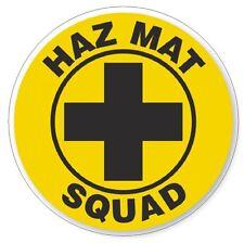 Haz Mat Squad Hard Hat Decal Hardhat Sticker Helmet Safety H71
