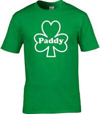 St Patrick Jour T-Shirt Hommes Paddy Irlandais Patriotique Trèfle