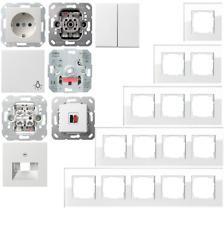 Gira Esprit Glas Weiß / System55 reinweiß gl. Steckdose Schalter Wippe - Auswahl