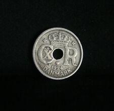 1924 HCN Denmark 10 Ore Copper Nickel World Coin KM822.1 Crowned CXR monogram