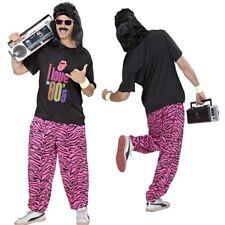 Herren Kostüm 80er Jahre Junge Sportkostüm Macho Proll Trainingsanzug Zebra Look