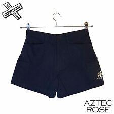 "AZTEC ROSE WOMENS HOT PANT SHORTS NAVY BLUE XS UK 8 26"" WAIST SURF RRP £33"