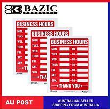 Business Hours Plastic Sign Cafe Restaurant Shop Window Open Close Hours Sign