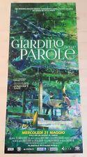 IL GIARDINO DELLE PAROLE  Locandina Cinema 33x70 Poster Film Anime Manga