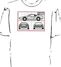 Classic 308 car Blueprint style t-shirt