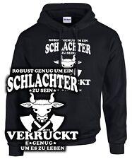 ROBUSTER SCHLACHTER Sweatshirt Metzger Fleischer Zunft Wappen Zeichen Spruch