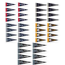 "Football Pick Your Team Mini Pennant Banner Flags 4"" x 9"" Fan Cave Decor 8 Pk"