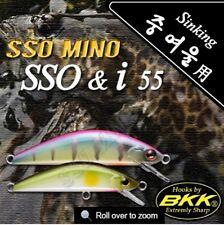 Leurre poisson nageur sinking SSO MINO SSO & I 55 PAYO 55mm BKK pêche truite