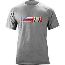 Vintage American Flag Iraq Campaign Blend Veteran T-Shirt