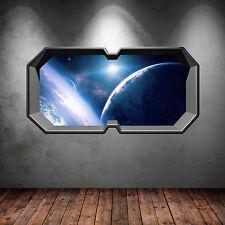 PLANETA DEL ESPACIO Galaxy ventana estrella multicolor adhesivo pared dormitorio
