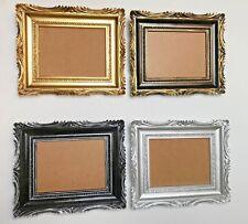 Bilderrahmen Barock Gold Silber 33x28cm Schwarz Silber Fotorahmen aufhängebar