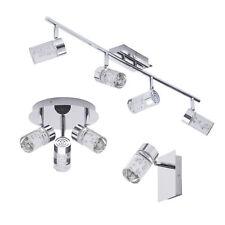 Halifax IP44 LED Bathroom Wall Light Ceiling Plate Spotlight Bar Chr Litecraft