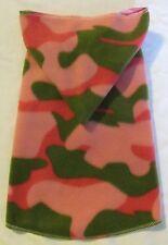 Pink & Green Camo Fleece Hoodie Dog Puppy Teacup Pet Clothes XXXS - Large
