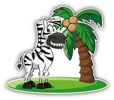 Zebra Palm Cartoon Car Bumper Sticker Decal -   9'', 12'', or 14''