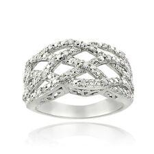 1/4 Ct Diamond Weave Ring