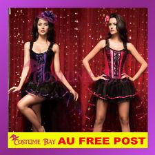 Ladies Burlesque Moulin Rouge Hens Night Party Petticoat Costume Corset + Skirt