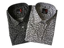 Mens Short Sleeve Retro Aztec Print Summer Regular Big Size Shirts CottonBlend