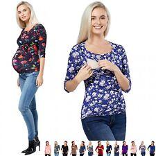 Zeta Ville - Women's Maternity Bolero Nursing Shirt Top Tee - Sizes S-4XL - 458c