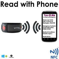 SMART Medical ID Wrist Band Identity Bracelet Mobile Phone Adult Child Emergency