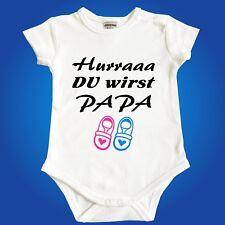 Body Strampler Babybody DU WIRST PAPA Oma Opa Onkel Tante - Vater werden Geburt