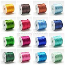 5m Rattail shamballa bracelet making nylon cord 1mm macrame kumihimo thread