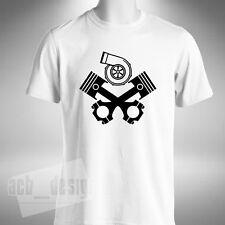 PISTÓN Turbo Para hombres Camiseta Skull and Crossbones estilo divertido técnico mecánico