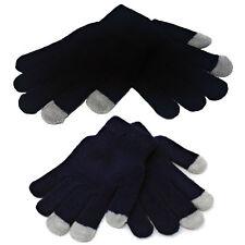 KIDS Touchscreen Magic Gloves Stretch Winter Boys Black Girls Childrens Phone