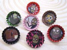 New SALAD FINGERS & Characters Bottlecap Pins +/-  Rusty Kettle & Rusty Spoon