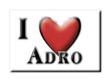 CALAMITA LOMBARDIA ITALIA FRIDGE MAGNET MAGNETE SOUVENIR I LOVE ADRO (BS)--