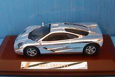 MC LAREN F1 1995 CHROME IXO 1/43 WOODEN BASE 1:43 CAR