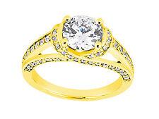 Genuine 1.00ct Round Diamond Engagement Ring Solid 14k Rose White Yellow Gold