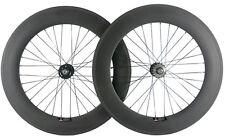 700C Track Bike 88mm Clincher Carbon Wheelset 15/16/17 Fixed Gear Carbon Wheels