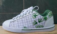 BK British Knights Schuhe Sneaker FLOWERS BLUMEN Weiß Grün