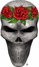 Red roses skull window golf cart go kart vinyl graphic decal