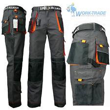Arbeitshose Bundhose Arbeitskleidung Herren Hose Grau Schwarz Orange Gr.46-62