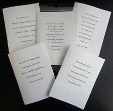 PK OF 10 ANNIVERSARY CARD INSERTS, PRE-CUT, 100GSM, A6, A5, 6X6, 5X5, 7X5