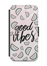 iPhone Good Vibes dicendo: Custodia Cellulare Flip case cover citazione