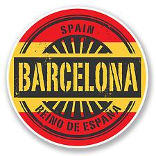 2 X 10 Cm Barcelona Cataluña España pegatina de vinilo calcomanía viaje Equipaje la etiqueta # 6576