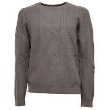 5892K maglione uomo FRED MELLO light grey sweater man