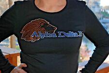 Alpha Delta Pi Rhinestone Bling Shirt XS S M L XL XXL 3X 4X 5X ADPi Lion