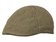 Stetson Texas Verde Oliva Organic Cotton berretto piatto visiera duckcap Gatsby SCUDO Cappuccio